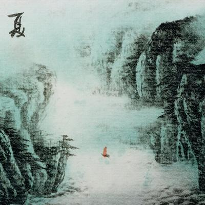 Chinese Traditional Ink Painting, Landscape of Season, Summer.