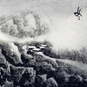 Chinese Traditional Ink Painting, Landscape of Season, Winter. by elwynn