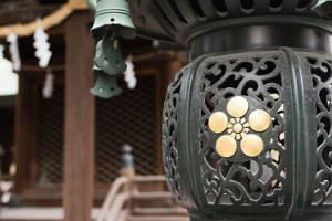 Japanese Style Lantern at Osaka Tenmangu, Osaka, Japan, Asia. by elwynn