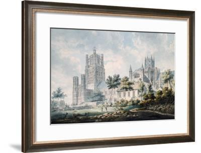 Ely Cathedral from the South-East, 1763-1804-Edward Dayes-Framed Giclee Print