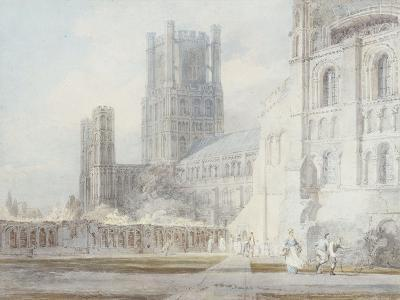Ely Cathedral from the South-East, 1794-J^ M^ W^ Turner-Giclee Print