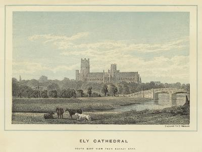Ely Cathedral, South East View from Barway Bank--Giclee Print