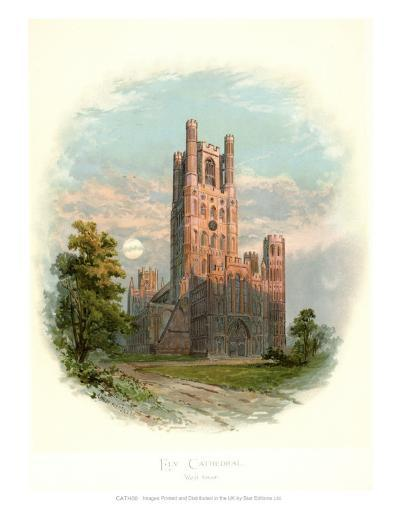 Ely Cathedral, West Tower-Arthur Wilde Parsons-Art Print
