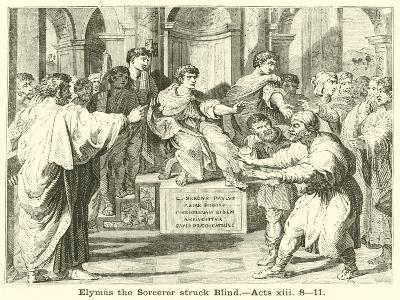 Elymas the Sorcerer Struck Blind, Acts, XIII, 8, 11--Giclee Print
