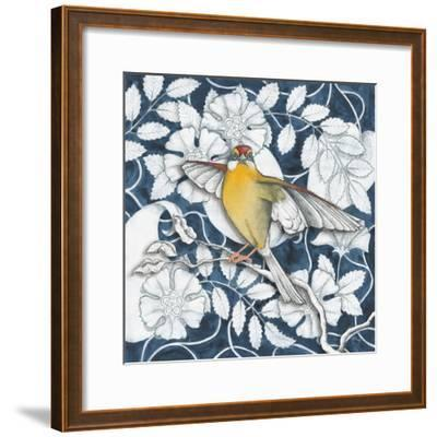 Arts and Crafts Bird IV Indigo
