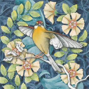 Arts and Crafts Bird IV by Elyse DeNeige