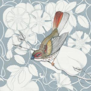 Arts and Crafts Birds II Tone on Tone by Elyse DeNeige
