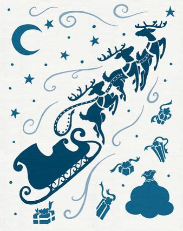Christmas Otomi Tile II by Elyse DeNeige