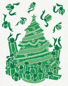 Christmas Otomi Tile IV by Elyse DeNeige