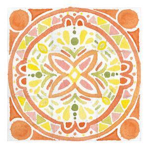 Citrus tile I v2 White Border by Elyse DeNeige