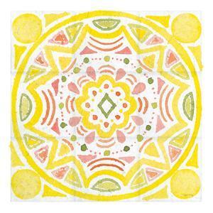 Citrus tile II v2 White Border by Elyse DeNeige