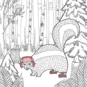 Color the Forest Color X by Elyse DeNeige