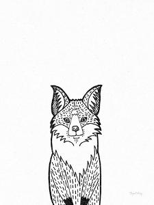 Forest Friends I Black and White Fox by Elyse DeNeige