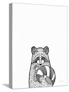 Forest Friends II Black and White Raccoon by Elyse DeNeige