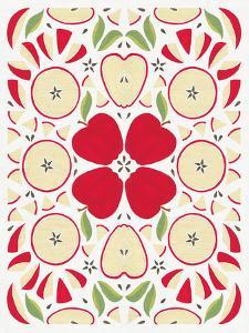 Retro Apple Otomi by Elyse DeNeige