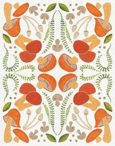 Retro Mushroom Otomi by Elyse DeNeige