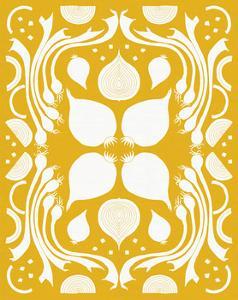 Retro Onion Otomi Silhouette by Elyse DeNeige