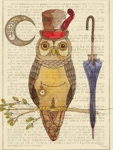 Steampunk Owl I by Elyse DeNeige