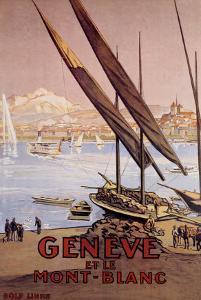 Geneve et le Mont-Blanc by Elzingre