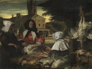 The Birdmarket, Amsterdam, c.1660-70 by Emanuel de Witte