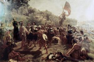 Founding of the Colony of Maryland by Emanuel Gottlieb Leutze