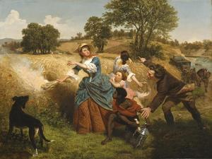 Mrs. Schuyler Burning Her Wheat Fields on the Approach of the British, 1852 by Emanuel Gottlieb Leutze