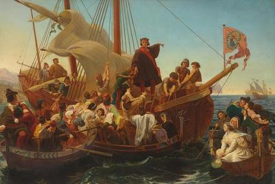 The Departure of Columbus from Palos in 1492, 1855
