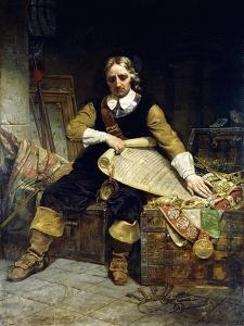 Oliver Cromwell, 1867 by Emanuel Leutze