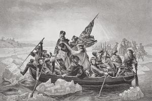 Washington Crossing the Delaware Near Trenton, New Jersey, Christmas 1776, from 'Illustrations of… by Emanuel Leutze