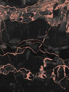 Copper On Black Marble by Emanuela Carratoni