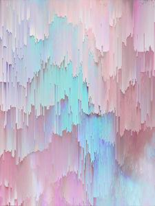 Light Blue And Pink Glitches by Emanuela Carratoni