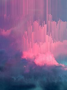Stormy Glitches by Emanuela Carratoni