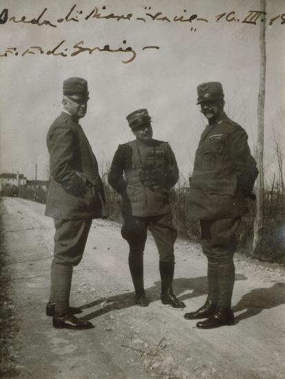 Emanuele Filiberto of Savoy-Aosta with General Paolini in Breda Di Piave--Giclee Print