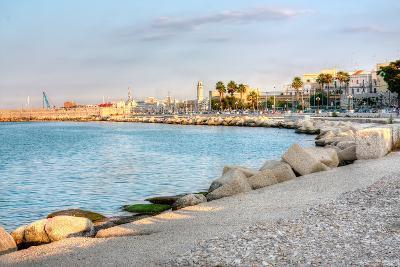 Embankment of Bari Italy Hdr-alexvav-Photographic Print