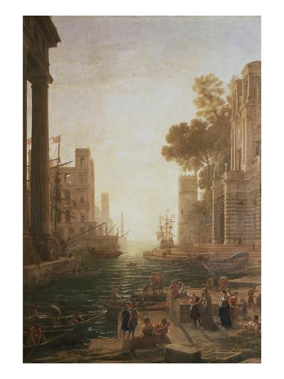 Embarkation at Ostia 1600-82-Claude Lorraine-Giclee Print