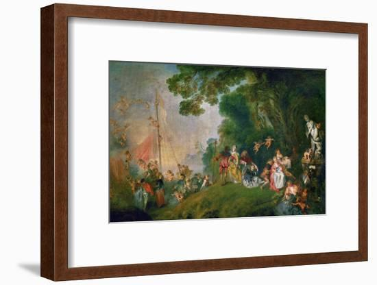 Embarkation for the Island of Cythera, 1718-Jean Antoine Watteau-Framed Giclee Print