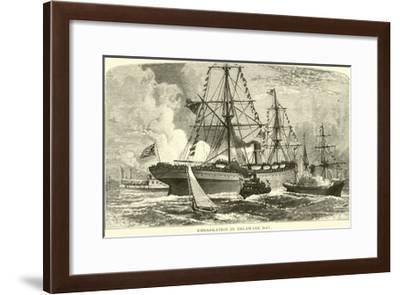 Embarkation in Delaware Bay--Framed Giclee Print