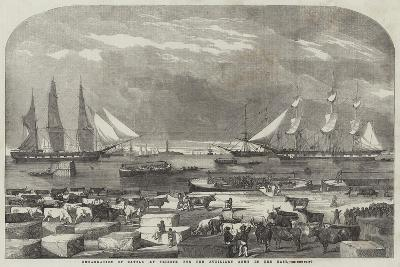 Embarkation of Cattle at Trieste for the Auxiliary Army in the East--Giclee Print