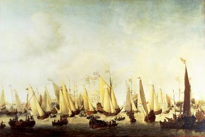 Embarkation of Charles II Stuart at Scheveningen, 1660-Willem Van De Velde II-Giclee Print