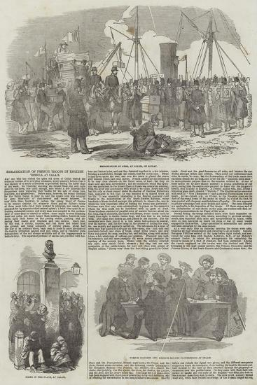 Embarkation of French Troops in English Vessels, at Calais--Giclee Print