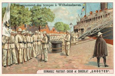 Embarkation of German Troops at Wilhemshaven, Boxer Rebellion, 1900--Giclee Print
