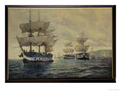 Embarkation of the Liberating Expedition of Peru, 1820, under Captain General Jose de San Martin-Antonio A. Abel-Giclee Print