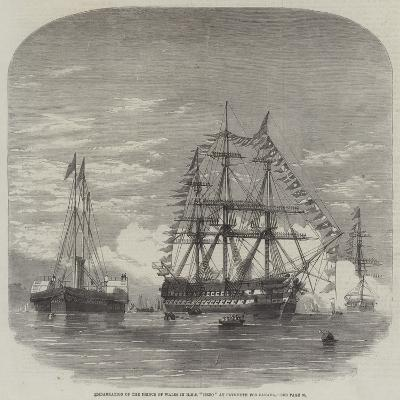 Embarkation of the Prince of Wales in HMS Hero at Plymouth for Canada--Giclee Print