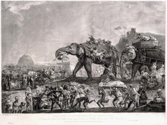 Embassy of Hyderbeck to Calcutta-Johann Zoffany-Giclee Print