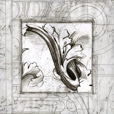 Embellished Acanthus Detail II-Ethan Harper-Art Print