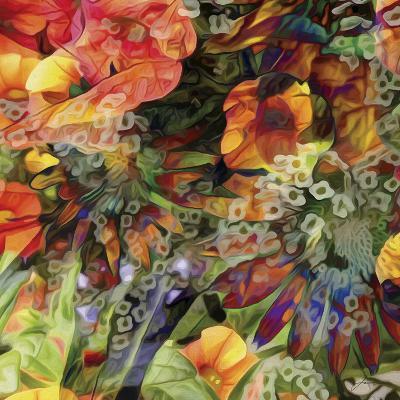 Embellished Eden Tile III-James Burghardt-Art Print