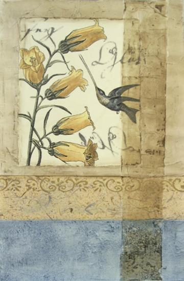 Embellished Hummingbird Reverie II--Giclee Print