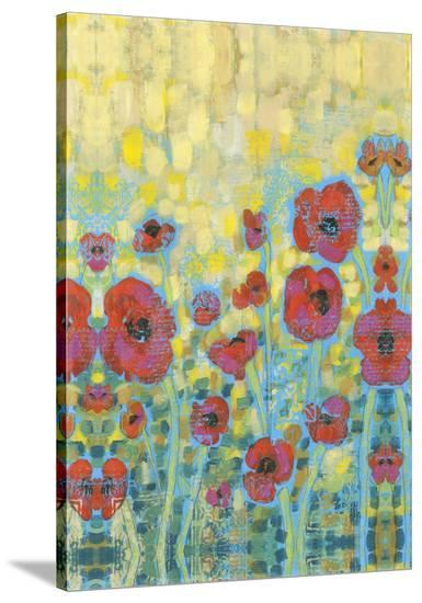 Embellished Poppy Impressions II-Jennifer Goldberger-Stretched Canvas Print