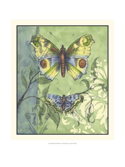 Embellished Vibrant Butterflies I-Jennifer Goldberger-Art Print