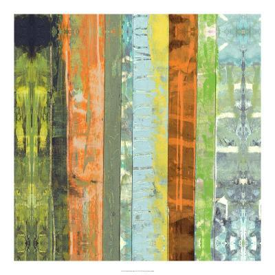 Embellished Vibrant Stripes I-Jennifer Goldberger-Art Print